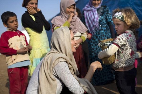 UNHCR Special Envoy Angelina Jolie Visits Syrian Refugee Settlement In Lebanon