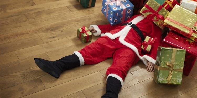 Santa Claus and presents