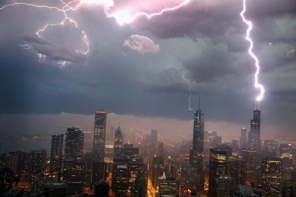 Severe Storms Pass Through Chicago