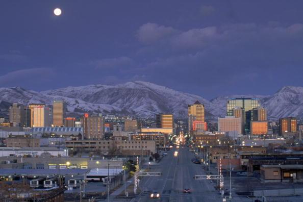 view of salt lake city, us