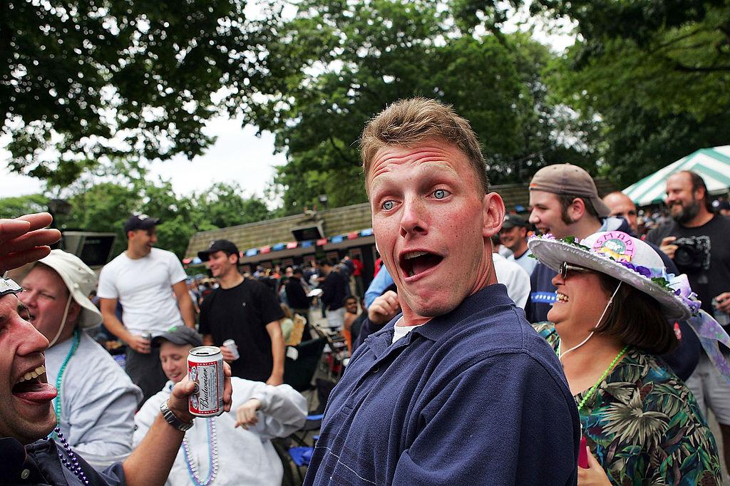 drunk guy having a good time