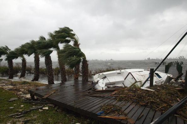 a sailboat after a hurricane