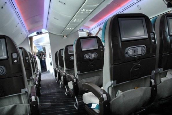 interior of modern plane